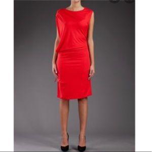 MM6 Maison Martin Margiela Red Tie Dress